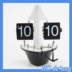 Hogift Best Seller Auto Flip Table and Desk Clock Retro Antique Old Fashioned Alarm Clocks