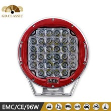 96w headlight for KR9961 96w led driving light cars red 9 INCH led car head lamp
