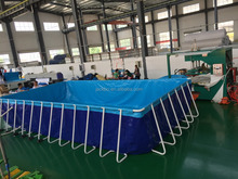 Hot sale above ground outdoor giant metal frame swim pool for swimming