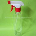 Botella de 500ml Square Claro Chemicial plásticas para embalaje Líquido