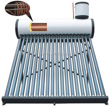 New copper coil heat exchange solar water heater/ pre-heated solar geyser