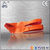 Lowering webbing sling with cotton polyester fabric