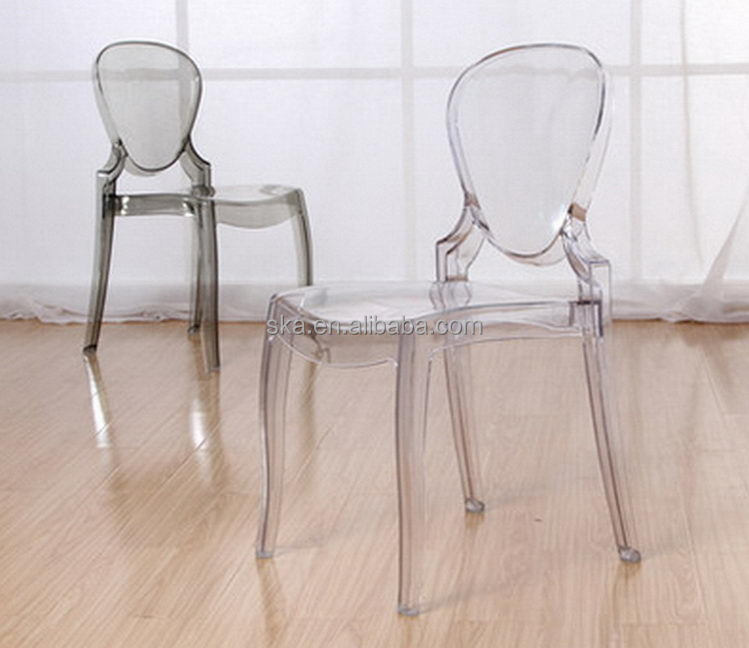 New Design Elegant Clear Plastic Acrylic Dining Ghost