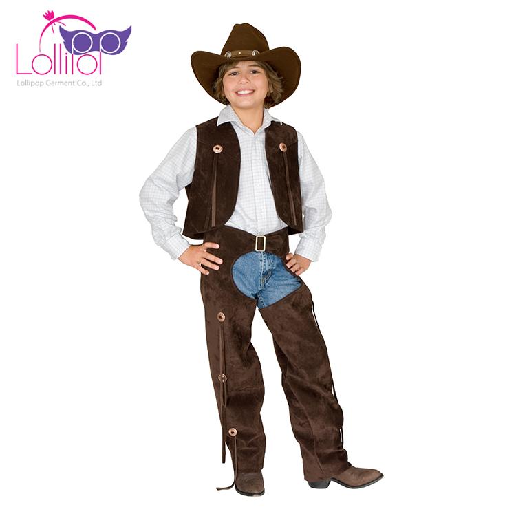 Trajes atacado fazer cowboy menino engraçado trajes de halloween do partido do traje do dia das bruxas