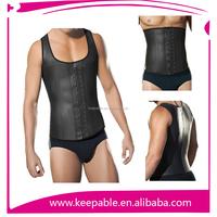2015 newest 9 Steel Boned Latex waist exercise slimming body shaper waist cincher corset for men 6XL