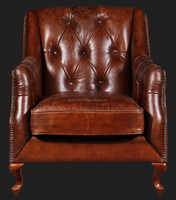 American country style 1 seat living room antique leather sofa