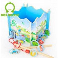 juguete de madera de la pesca