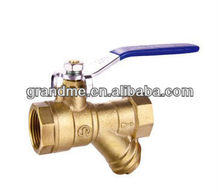 long handle ball valve with strainer