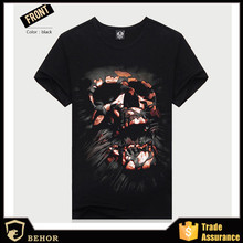 The most popular men's latest men's skull 3 dt T-shirt men T-shirt guanggu shan t-shirts with short sleeves