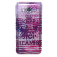 Keep Clam For Samsung Grand Prime G530 Back Cover TPU with Glitter