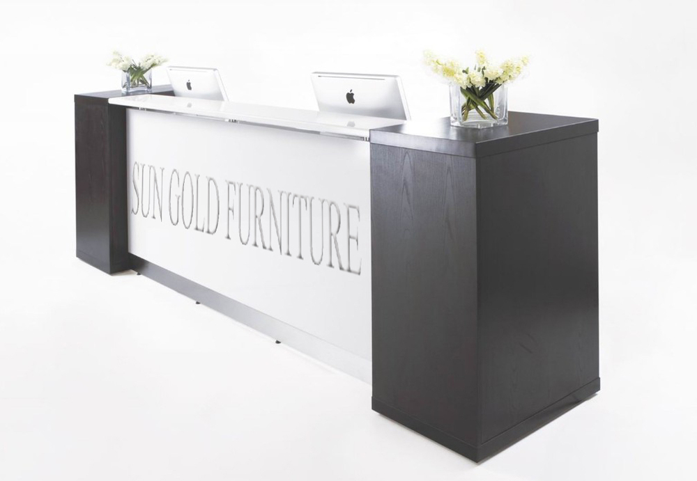 wooden furniture office counter table design small