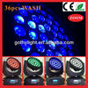 CE RoHS DMX control 10W 36pcs wash zoom/ 4in1 moving heads