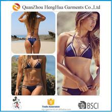 2015 New sexy bikini transparent bikini triangle bikinis for lady