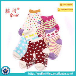 Baby toe cotton socks with silicone rubber soles socks
