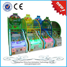 2015 new products kids coin operated game machine basketball game