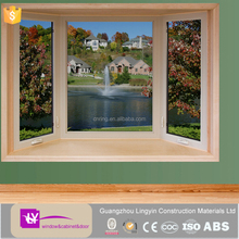 latest cheap price PVC top hung window and fixed window with double clear glazed