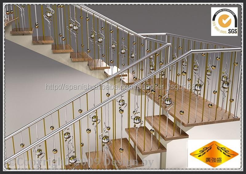 Interior de la escalera de hierro escalera barandilla - Pasamanos escalera interior ...
