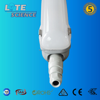 125lm/w IP65 IK08 SAA triproof light, 2ft,4ft,5ft T8 TUBE fixture, PC Base+PC Cover with IK08