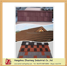 Decorative Stone Coated Metal Villa Roof Tile with 5 types optional