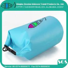 5L top level clear pvc dry bag with drawstring