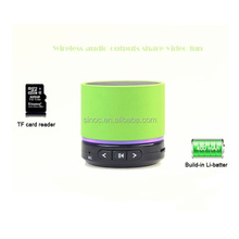 kingwon portable mini speaker bluetooth , 2014 hot sale wireless speaker s10 can as dj music player, suported usb/tf/mp3/mp4