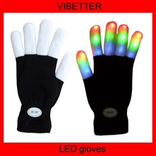 Stock Flashing gloves with Red/Blue/Green light led gloves wholesale china