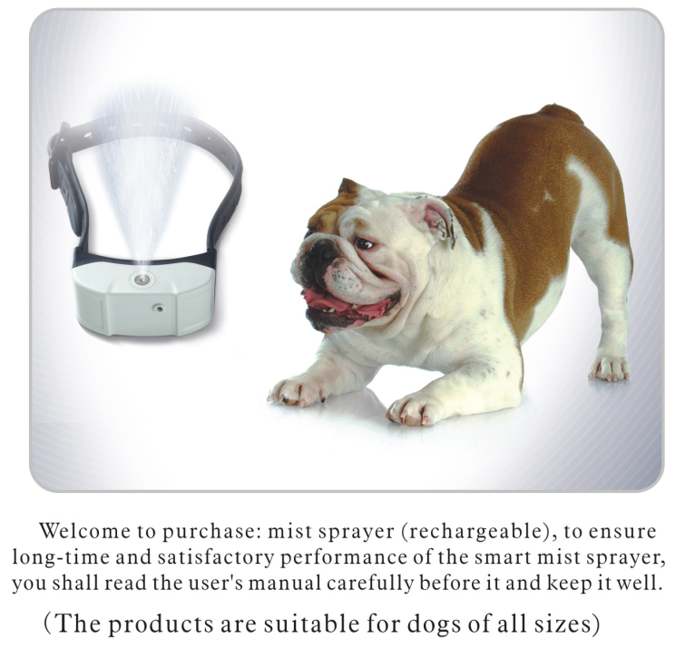 Spray dog bark Collar Rechargeable Electric Mist Bark Collar