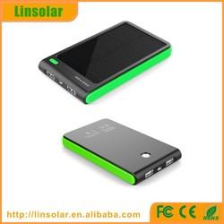 New dual usb 4000mah solar powered phone charger for samsung iphone ipad MP3 MP4
