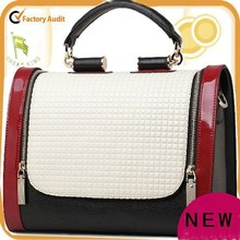 European fashion traditional lady leather bag with handle
