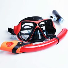 swim mask and front swimming snorkel set