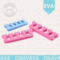 2015 High Quality EVA nail seperator foot care silicone toe separator straighten toes