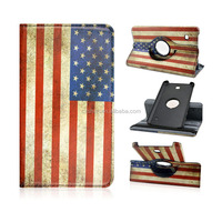 360 Rotating Colorful Painting Goddess Liberty Leather Protective Stand Case Cover for Samsung Galaxy Tab 4 7.0inch T230