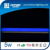 Outdoor stainless steel body toughness glass cover 600*55*71mm 5W RGB , blue color waterproof strip led brick light