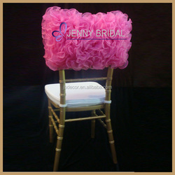 C005N factory best price and custom ruffled wedding chair cover