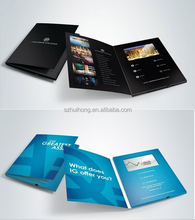 LCD video card brochure for brand promotion, advertising, greetng card