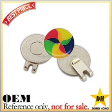 Custom cheap ball marker metal magnetic hat clips/ golf hat clips