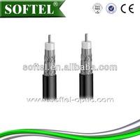 SOFTEL rg6 quad shield coaxial cable,coaxial cable types for cable tv/quad shield cable,75 ohm cable/belden rg-6 coaxial cable