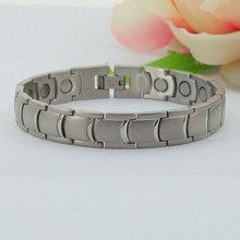 pesado personalizado de la joyería de titanio pulsera de dijes para la pulsera de metal