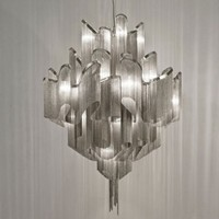 Hand Made Aluminium Chain Chandeliers Atlantis Chandelier For Home