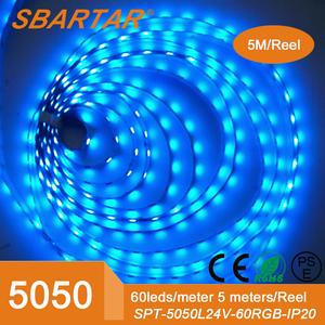 Липучки 5 м 300D гибкая изменение цвета из светодиодов полосы света DC12v