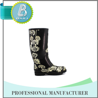 Womens Fashionable Wellington Boots - Snow Wool