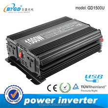 Special Offers!wall mounting type 1500W power inverter 230v 12v with USB