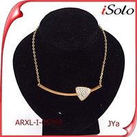 new products wholesale jewelery diamond necklace heart