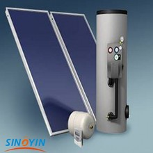 flat plate pressurized solar water heater system for office supplying hot water