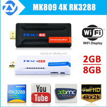 Quad core mk809 4k tv box 2GB 8GB memory watch free movies online internet tv box top