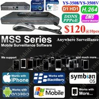 8CH H.264 240/200fps, 3G D1 Standalone DVR, Support Google Andriod, Nokia Symbian Mobile Phone View, CMS MSS