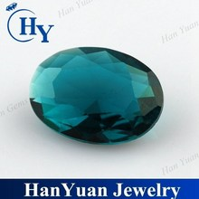 hot sale oval loose faceted glass stone for jewelry making