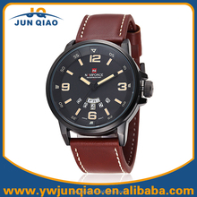 China Brand Man Genuine Leather Watch Japan Quartz Movement Water Resistant Watch Naviforce Watch 9028