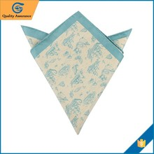 Printed Cotton Wholesale Handkerchief suit pocket square folds