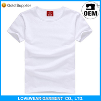 Top quality hot sale cheap 100% organic cotton plain t shirt for unisex